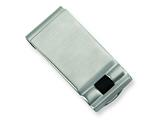 <b>Engravable</b> Chisel Stainless Steel Enameled Money Clip style: SRM112