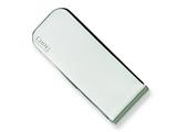 <b>Engravable</b> Chisel Stainless Steel Money Clip style: SRM118