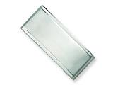 <b>Engravable</b> Chisel Stainless Steel Money Clip style: SRM119