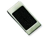 Chisel Stainless Steel Brushed Black Stingray Money Clip style: SRM140