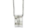 Chisel Stainless Steel Polished Geometrical Pendant 18in Necklace style: SRN103018