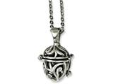 Chisel Stainless Steel Black Agate Fancy Pendant Necklace style: SRN112520