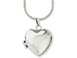 Chisel Stainless Steel Polished Heart W/cz Magnetic Locket 20in Necklace style: SRN113320