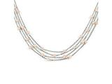 Chisel Stainless Steel 4 Strand Fw Cultured Pearl Necklace style: SRN127718
