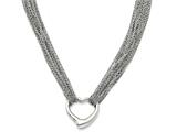 Chisel Stainless Steel Multi Strand Polished Heart Toggle Necklace style: SRN128117