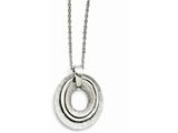 Chisel Stainless Steel Oval Three Piece Polished Necklace style: SRN134520