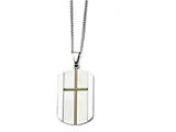 Chisel Stainless Steel Yellow Ip-plated Cross Brushed/polished Necklace style: SRN134922