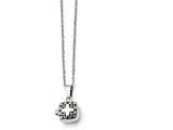 Chisel Stainless Steel Polished And Antiqued Magnetic Square Necklace style: SRN138418