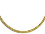 Chisel Stainless Steel Yellow Ip-plated Textured With 1.5 Inch Ext. Necklace style: SRN139320