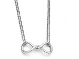 Chisel Stainless Steel Polished Infinity Symbol Two Strand Necklace style: SRN14061825