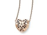 Chisel Stainless Steel Polished Pink Ip-plated Heart Necklace style: SRN141518