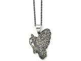 Chisel Stainless Steel Butterfly Marcasite Necklace style: SRN143120
