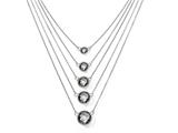 Chisel Stainless Steel Grey Glass With 2in Ext. Polished Necklace style: SRN143818