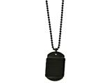 Chisel Stainless Steel Brushed Dog Tag Wrapped Leather Necklace style: SRN1444265