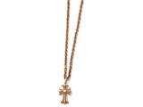 Chisel Stainless Steel Polished Pink Ip-plated Cross Necklace style: SRN152518