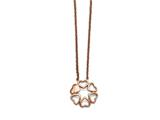 Chisel Stainless Steel Polished Pink Ip-plated Circle Of Hearts Necklace style: SRN15511725