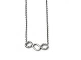 Chisel Stainless Steel Polished CZ Necklace style: SRN155618