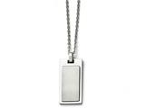 Chisel Stainless Steel Brushed And Polished Necklace style: SRN158822