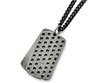 Chisel Stainless Steel Brushed W/cz Movable Dog Tag Necklace style: SRN159122