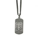 Chisel Stainless Steel Antiqued Brushed Eagle Necklace style: SRN159322