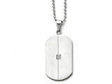 Chisel Stainless Steel Brushed And Polished W/cz Necklace style: SRN159420