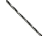 Chisel Stainless Steel 6.75mm Polished And Antiqued Curb Chain Necklace style: SRN161020