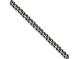 Chisel Stainless Steel 9.25mm Oxidized Curb Chain Bracelet style: SRN16129