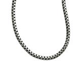 Chisel Stainless Steel Polished And Antiqued Fancy 5.50mm Chain Necklace style: SRN164022