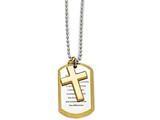 Chisel Stainless Steel Polished Yellow Ip-plated Serenity Prayer Necklace style: SRN164224