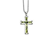 Chisel Stainless Steel Polished Camoflage Cross Necklace style: SRN165324