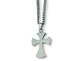 Chisel Stainless Steel Cross Necklace - 22 inches style: SRN169