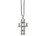 Chisel Stainless Steel Polished Moveable Cross Necklace style: SRN170222
