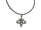 Chisel Stainless Steel And Polished Fleur De Lis Necklace style: SRN170520