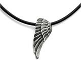 Chisel Stainless Steel Polished And Antiqued Wing Necklace style: SRN171220