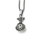 Chisel Stainless Steel Polished And Antiqued Money Bag Necklace style: SRN171922