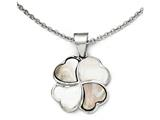 Chisel Stainless Steel Polished Black/white Mother Of Pearl Necklace style: SRN174018