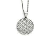 Chisel Stainless Steel Polished Circle Necklace style: SRN175118