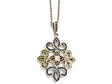 Chisel Stainless Steel Polished Rose Ip-plated Crystal Necklace style: SRN17611825