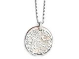 Chisel Stainless Steel Polished Mother Of Pearl Pendant Necklace style: SRN177718