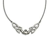 Chisel Stainless Steel Polished Claddagh Necklace style: SRN179018