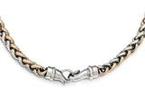 Chisel Stainless Steel Polished Rose Ip-plated 24in Necklace style: SRN180024