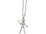 Chisel Stainless Steel Polished Moveable Skeleton Necklace style: SRN181522