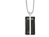 Chisel Stainless Steel Polished Black Ip-plated Wire Necklace style: SRN181720