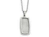 Chisel Stainless Steel Polished And Textured Necklace style: SRN182122