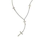 Chisel Stainless Steel Cross Dangle Slip On Necklace style: SRN184930