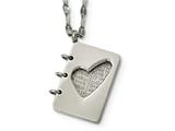 "Chisel Stainless Steel Brushed And Polished Lord""s Prayer Necklace style: SRN1863175"