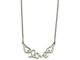 Chisel Stainless Steel Polished Love With Wings Necklace style: SRN186417