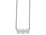 Chisel Stainless Steel Polished Three Skull Necklace style: SRN1868175