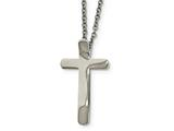 Chisel Stainless Steel Religious Fish and Cross Necklace style: SRN193216