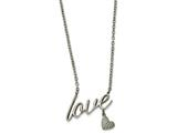 Chisel Stainless Steel Polished Love Necklace style: SRN1942165